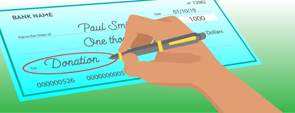 How to write a check - Memo line
